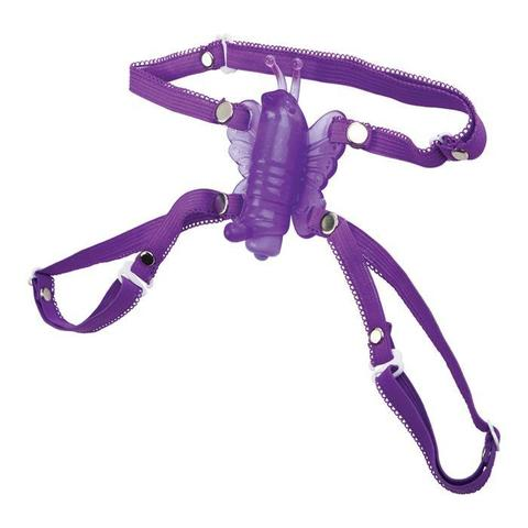 Фиолетовая вибробабочка на ремешках Micro Wireless Venus Butterfly