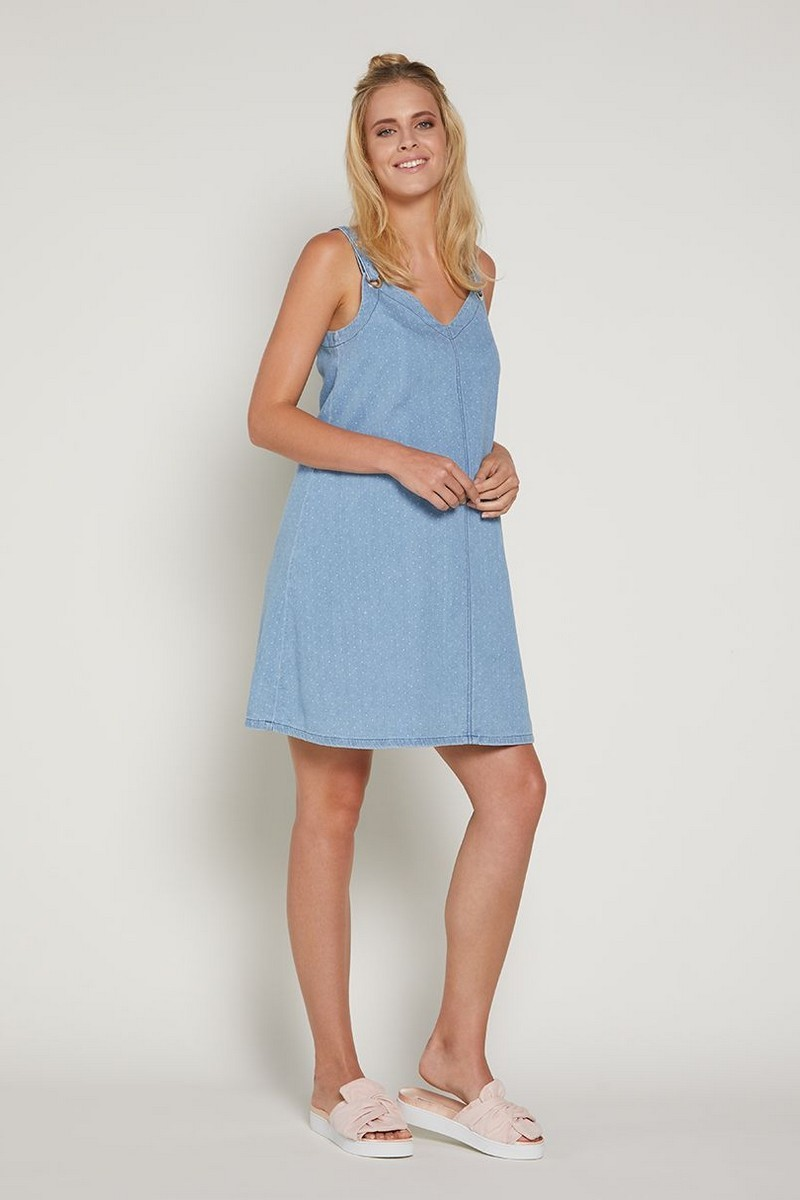 Платье для беременных 09369 голубой