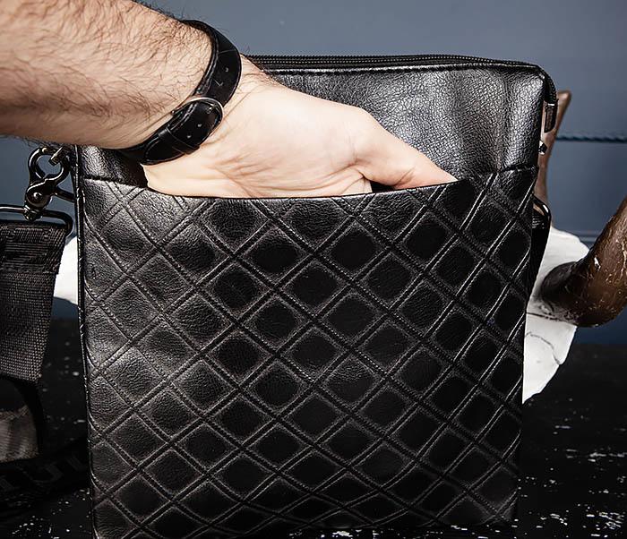 BAG559-1-4 Тонкая мужская сумка из искусственной кожи фото 07