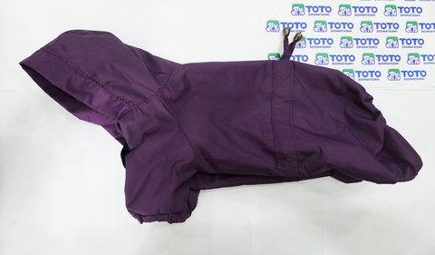 Дождевик для собак мелких пород, фиолетовый