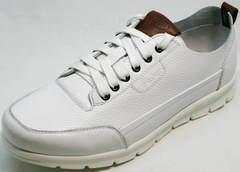 Кроссовки кожаные мужские летние мужские Faber 193909-3 White.