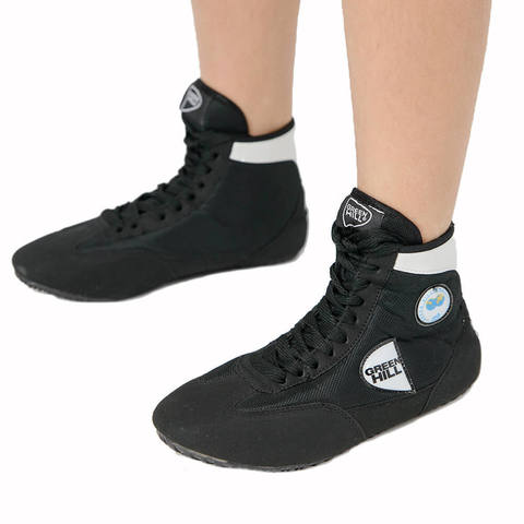 Обувь для борьбы чёрная Green Hill