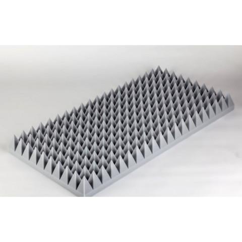 негорючая  акустическая панель  Пирамида ECHOTON FIREPROOF 100x50x7cm   серый