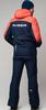 Премиальный теплый лыжный костюм Nordski Mount Dark Blue-Red мужской