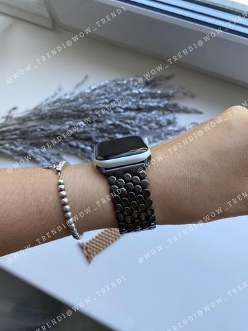 Ремешок Apple watch 38mm Honeycombs metall /black/