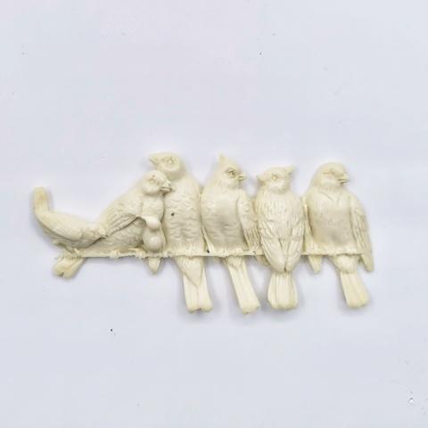 Отливка Птички на проводе, 8,5х4см, ОТ-РО-806