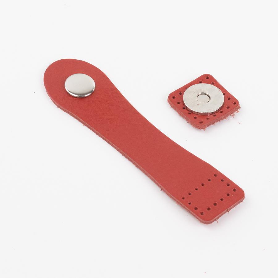 """Вся фурнитура Застежка для сумки """"Красный"""" с магнитной кнопкой IMG_1241.jpg"""