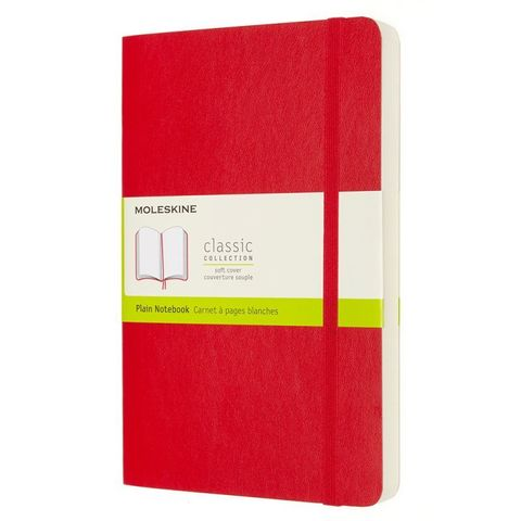 Блокнот Moleskine Classic Soft Expended QP618EXPF2 Large 130х210мм 400стр. нелинованный мягкая обложка красный
