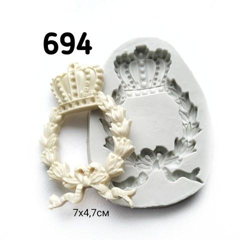 Молд Венок с короной 7х4,7см, Арт.PO-0694, силикон