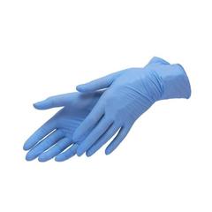 blue sail+, нитрил+винил перчатки, размер S, 50пар или 100шт, цвет синий