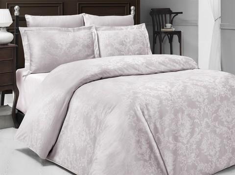Комплект постельного белья DO&CO Сатин  жаккард PERLA 2 спальный (Евро) цвет бежевый