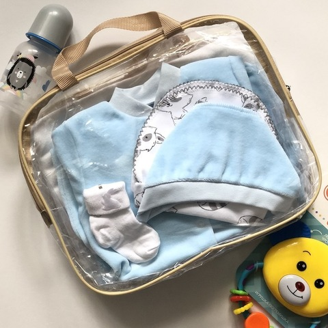 Набор одежды для новорожденных в роддом, мальчик, размер 56