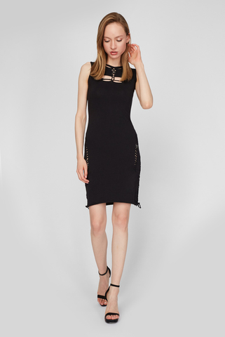 Женское черное платье D-BRAIDEN DRESS Diesel