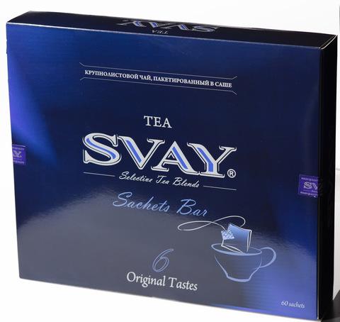 Чай Svay Sachets bar 6 вкусов чая в саше (60 саше по 2 гр.)