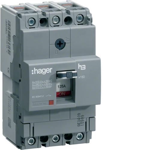 Автоматический выключатель, x160, TM рег.уст.терм., 3P 40кА 63-40A, 440В АС