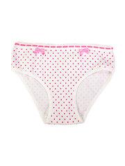 Трусы для девочки Baykar белые в розовый горошек