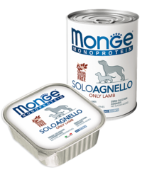 Monge Monoprotein Dog All Breeds Solo Agnello Only Lamb