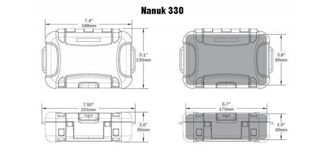 Кейс водонепроницаемый Nanuk 330