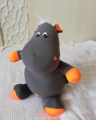 Подушка-игрушка антистресс Gekoko «Бегемот Няша», оранжевый