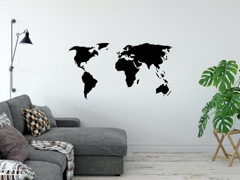 Карта мира La Contre'e 120x55 cm черная
