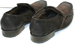 Теплые мокасины с мехом мужские Welfare 555841 Dark Brown Nubuk & Fur.