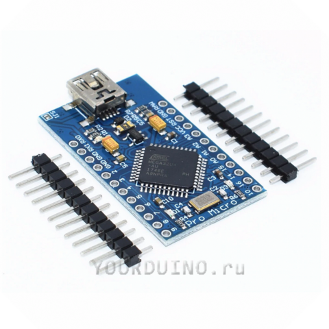 Pro Micro (Arduino совместимый контроллер, разъем miniUSB)