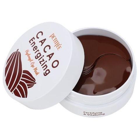 Гидрогелевые патчи для глаз Petitfee с комплексом из растительных экстрактов и масел какао 60 шт