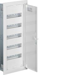 Щиток встраиваемый,секционный,с оснасткой,800x300x110мм (ВхШхГ),одна дверь,RAL9010