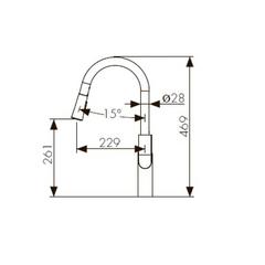 Смеситель KAISER Linear 59044 для кухни с вытяжной лейкой схема