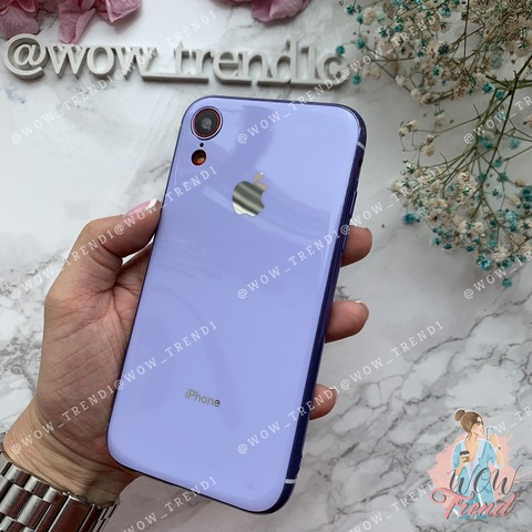 Чехол iPhone XR Glass Silicone Case Logo /glycine/