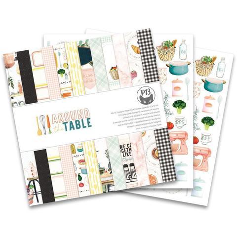 Набор двусторонней бумаги 30х30см - P13 Double-Sided Paper Pad -Around The Table