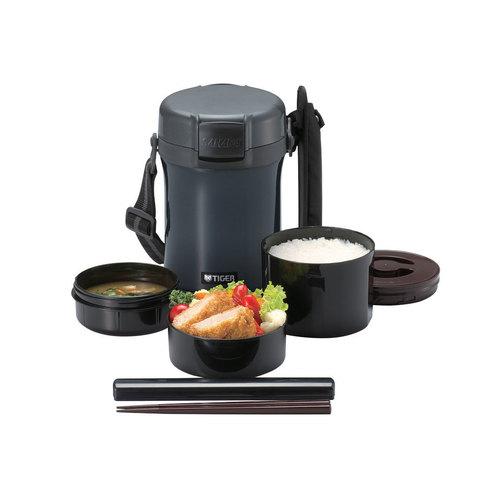 Термос для еды с контейнерами Tiger LWU-A (1,71 литра), темно-серый