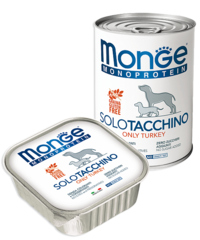 Monge Monoprotein Dog All Breeds Solo Tacchino Only Turkey