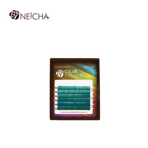 Ресницы NEICHA нейша цветные 6 линий MIX аквамарин