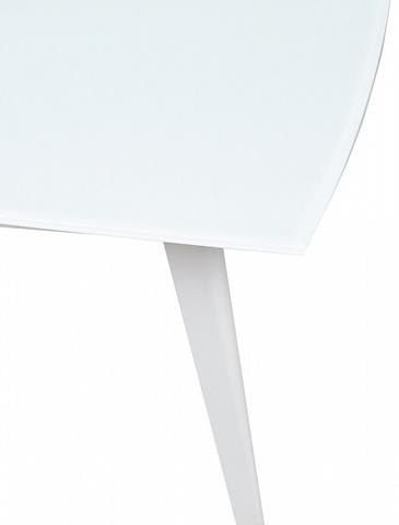 Стол ELIOT 120 Frosted Super White glass+White М-City (обеденный, кухонный, для гостиной), Цвет каркаса: Белый, Материал столешницы: Стекло закаленное, Цвет столешницы: Белый, Цвет: Белый, Материал каркаса: Металл