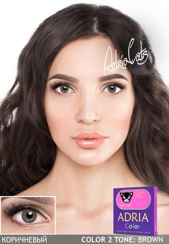 Набор Adria Color: линзы Adria Color 2 tone + раствор DenIQ 100 ml