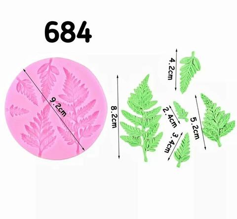 0684 Молд силиконовый. Листья травы