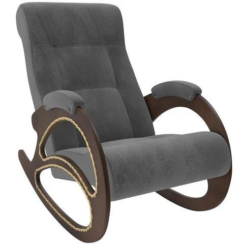 Кресло-качалка Комфорт Модель 4 орех/Verona Antrazite Grey