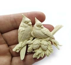 Д0808 Пластиковый декор Птички