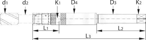 Удлинители для метчиков с поверхностью HB