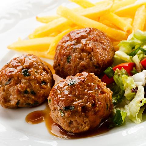Фотография Фрикадельки Шведские мясные (свинина и говядина) / 250 гр купить в магазине Афлора