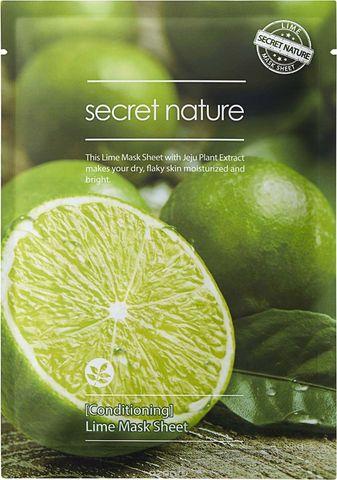 Secret Nature Lime Mask Sheet [Conditioning] Бодрящая маска для лица с лаймом 25мл