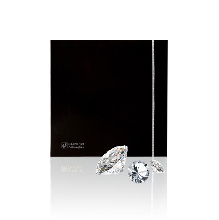 Silent Design series Накладной вентилятор Soler & Palau SILENT-100 CZ DESIGN SWAROVSKI BLACK сваровски.jpeg