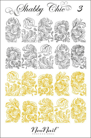 Трафарет для дизайна Shabby Chic 03 комбинированный