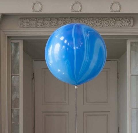 Большой воздушный шар-гигант Агат синий