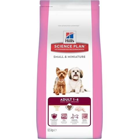 Hill's Science Plan  сухой корм для взрослых собак мелких и миниатюрных пород, курицей Small & Miniature