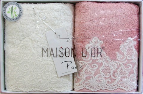 Набор полотенец  JASMIN  ЖАСМИН 2пр 50х100 Maison Dor Турция