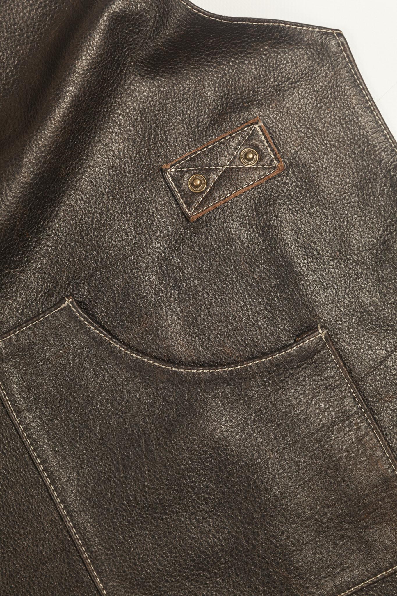 Мужской брутальный кожаный фартук