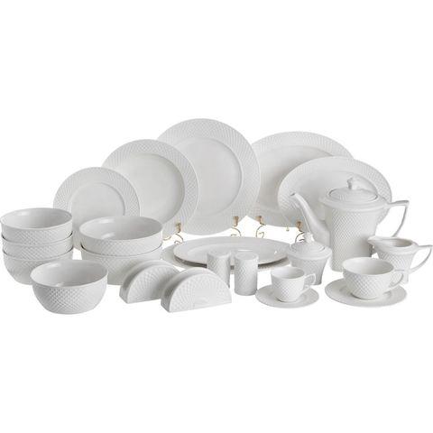 Столово-чайный сервиз из фарфора на 12 персон