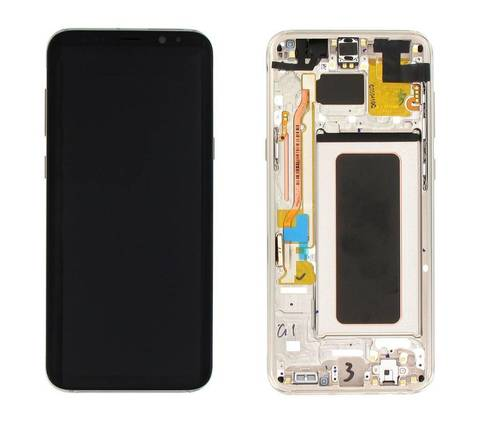 LCD SAMSUNG Galaxy S8 Plus G955F + Touch + Frame Gold Orig